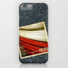 STICKER OF POLAND flag iPhone 6 Slim Case