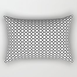 Quatrefoil Black and White Rectangular Pillow