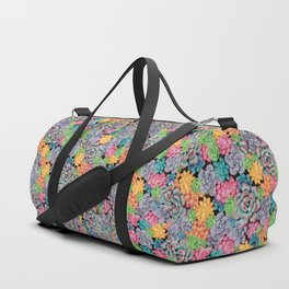Rainbow Candy Succulent Plants | Colorful Cacti Duffle Bag