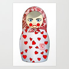 Matryoshka Hearts Art Print