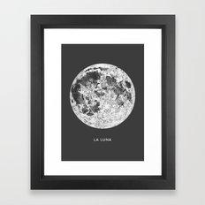 La Luna Moon Print Framed Art Print