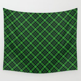 Green Scottish Fabric High Res Wall Tapestry