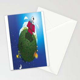 Green Peanuts World Stationery Cards