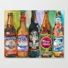Alaskan - Budweiser - Arrogant - Pliny - Blue Moon Beer  Beer Art Painting Canvas Print