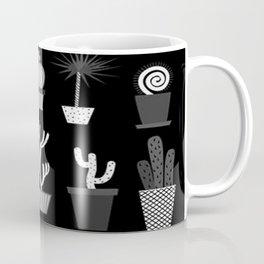 MIX SUCCULENTS2-B&W Coffee Mug