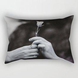 Love in Hands Rectangular Pillow