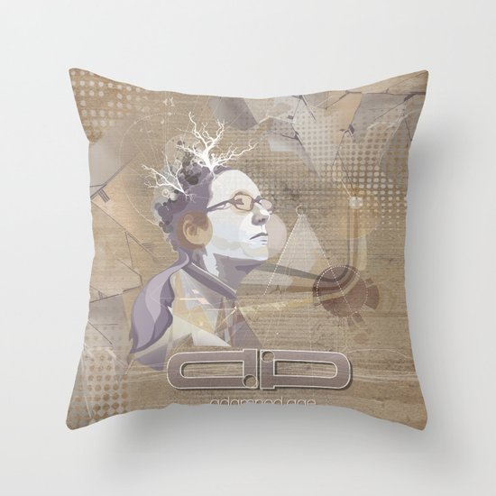 adamned.age artist poster  Throw Pillow