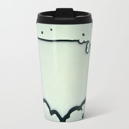 USA Map in Liquid Water US Outline United States Travel Mug