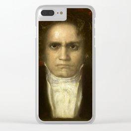 Ludwig van Beethoven (1770-1827) by Franz von Stuck (1863 - 1928)(2) Clear iPhone Case