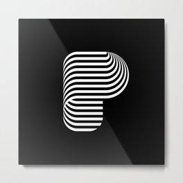Letterform P Metal Print