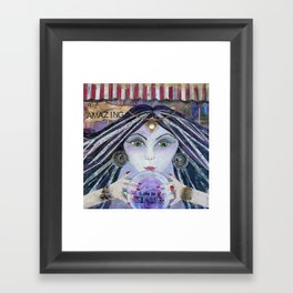THE AMAZING - Gypsy Witch, Fortune Teller Framed Art Print
