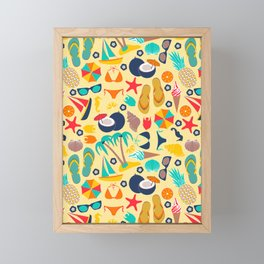Summer Time (Yellow) Framed Mini Art Print