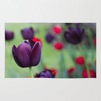 tulips Area & Throw Rugs featuring Tulips by AlejandraClick
