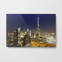 Dubai sky line. Metal Print