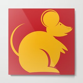 Year of the Rat. Chinese New Year 2020 Metal Print