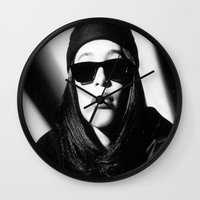 aaliyah Wall Clocks featuring Aaliyah by Luxe Glam Decor