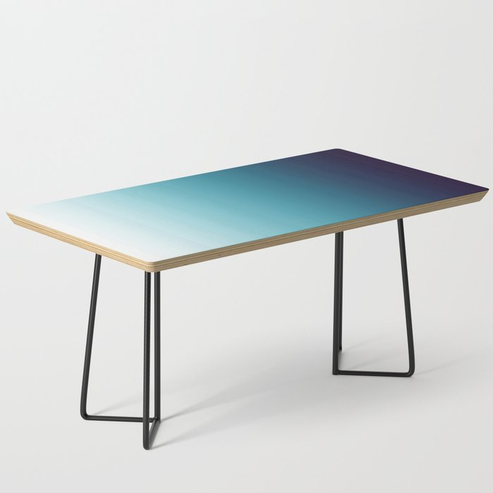 Blue White Gradient Coffee Table