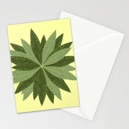 Money Tree Leaves Circle Stationery Cards