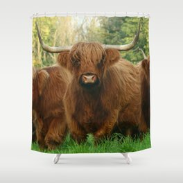 horny one Shower Curtain