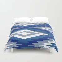 kilim Duvet Covers featuring Kilim Rug Blue by suzyoconnor