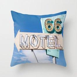 Motel 66 Throw Pillow