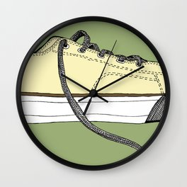 Sneaker in profile Wall Clock