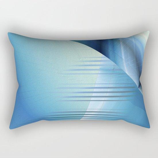 Blue abstract 2016 Rectangular Pillow
