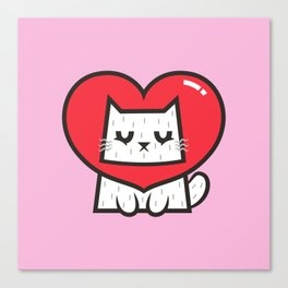 Cat Heart Canvas Print