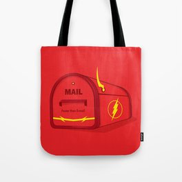Faster than E-mail Tote Bag