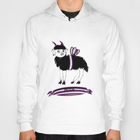 asexual Hoodies featuring Asexual Pride Goat/Sheep by plaguedcoffeebeans