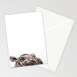 Peeking Baby Hippo Stationery Cards
