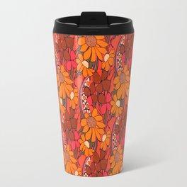 Groovy Flowers Travel Mug