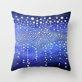 A Swim Through The Galaxy Throw Pillow