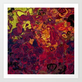 Composition #84 (shades of purple) Art Print