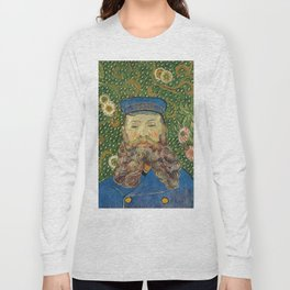 Portrait of the Postman Joseph Roulin by Vincent van Gogh Long Sleeve T-shirt