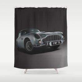 Aston Martin DB5 Digital Painting   Automotive   Cars Shower Curtain