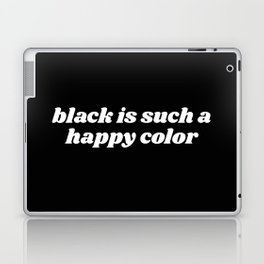 black is a happy color Laptop & iPad Skin