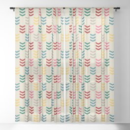 Colorful arrows Sheer Curtain