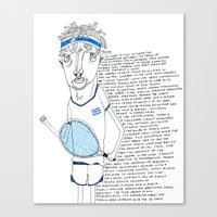 tennis Canvas Prints featuring Tennis by Andrea Forgacs