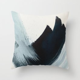 Like A Gentle Hurricane: a minimal, abstract piece in blues and white by Alyssa Hamilton Art Throw Pillow