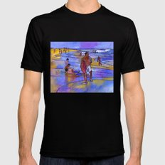 Boogieboarding at Sandy's Mens Fitted Tee MEDIUM Black
