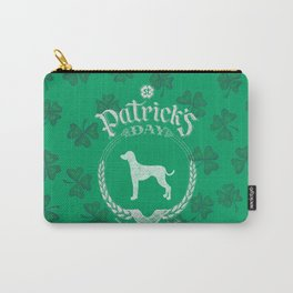 St. Patrick's Day Dalmatian Funny Gifts for Dog Lovers Carry-All Pouch