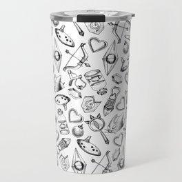 Zelda A Collection of Items Pattern Travel Mug