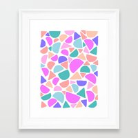 icecream Framed Art Prints featuring ICECREAM by Isabella Salamone