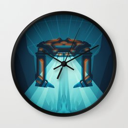 A Digital Frontier Wall Clock