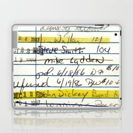 Library Card 5478 The New Atlantis Laptop & iPad Skin