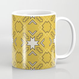 Ethnic pattern in yellow Coffee Mug
