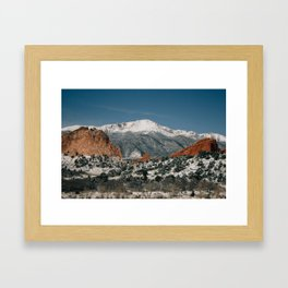 Snowy Mountain Tops Framed Art Print