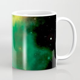 Green and yellow milky way galaxy and starry sky Coffee Mug