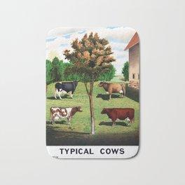 Typical Cows Bath Mat
